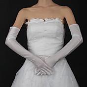 satén ópera guante guantes nupciales estilo femenino clásico