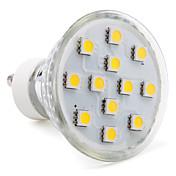 3W 80-100lm GU10 Focos LED MR16 12 Cuentas LED SMD 5050 Blanco Cálido 220-240V