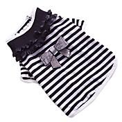 Perro Camiseta Ropa para Perro Lazo Negro/Blanco Algodón Disfraz Para mascotas