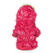 Hund Frakker / Hettegensere Hundeklær Ensfarget Rose Bomull Kostume For kjæledyr Herre / Dame Hold Varm / Vindtett