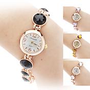 Mujer Reloj de Moda Reloj Pulsera Cuarzo La imitación de diamante Aleación Banda Elegantes Negro Blanco Marrón MoradoBlanco Negro Morado
