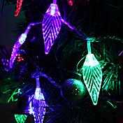 7M 30-LED Leaf-Shaped fargerike lys LED Strip Fairy Lampe til Festival dekorasjon (220V)