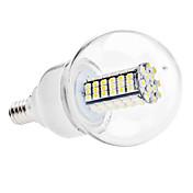 6000lm E14 LED-globepærer G60 120 LED perler SMD 3528 Naturlig hvit 110-130V 220-240V