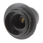 E27 base de tornillo Rosca sostenedor de bulbo del zócalo de lámpara (Negro)