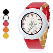 Mujer y modelo de la jirafa de cuarzo analógico reloj de pulsera de la PU de la muchacha (colores surtidos)