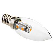 1W 50-100lm E14 LED-lysestakepærer C35 7 LED perler SMD 5050 Dekorativ Varm hvit 220-240V