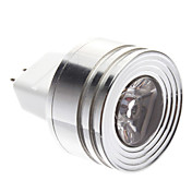 1w gu5.3 (mr16) led spotlight mr11 1 50-80lm varm hvit 3000k dc 12v