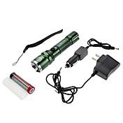 SmallSun 4 Linternas LED Linternas y Lámparas de Camping LED 350 lm 4.0 Modo Cree XR-E Q5 Enfoque Ajustable Recargable autodefensa