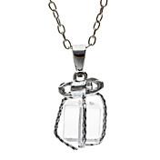 bowknot es k blanco pequeños regalos transparentes del collar de la caja de regalo