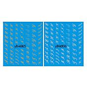 4PCS de la transferencia del agua de impresión mixta patrón uñas Pegatinas Lines
