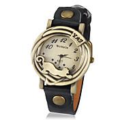 Hombre Cuarzo Reloj de Pulsera Reloj de Moda Gran venta PU Banda Vintage Leopardo Negro