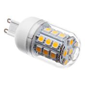 3W 3000 lm G9 Bombillas LED de Mazorca T 30 leds SMD 5050 Blanco Cálido AC 220-240V