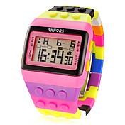Mujer Digital Reloj digital Reloj Deportivo Despertador Calendario Cronógrafo LCD Plastic Banda Encanto Moda Múltiples Colores