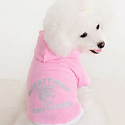 개 후드 레드 블루 핑크 강아지 의류 겨울 모든계절/가을 문자와 숫자 캐쥬얼/데일리