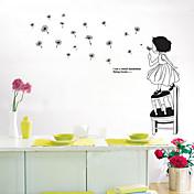 Karakterer Veggklistremerker Folk Wall Stickers Dekorative Mur Klistermærker, Vinyl Hjem Dekor Veggoverføringsbilde Vegg Dekorasjon