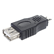 USB 2.0 마이크로 남성 어댑터 / OTG 커넥터 태블릿 / PC 연결 (블랙)에 대한 여성