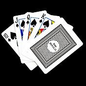 포커 게임 카드 개인화 된 선물 회색 체크 무늬