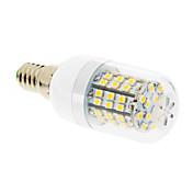 E14 Bombillas LED de Mazorca T 60 leds SMD 2835 Blanco Cálido 550-680lm 2500-3500K AC 100-240V