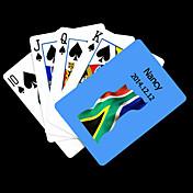 개인 선물 파란 남아프리카 공화국 깃발 본 재생 카드