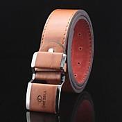 Hombre Piel Legierung Hebilla Cinturón de Cintura - Casual Un Color
