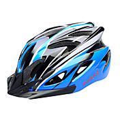 FJQXZ EPS + PC Azul y Negro Integralmente moldeado Casco de Ciclista (18 Vents)