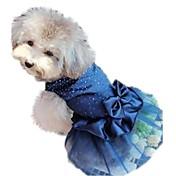 Gato Perro Vestidos Ropa para Perro Lentejuela Rojo Azul Dorado Nailon Disfraz Para mascotas Mujer Vacaciones Cumpleaños Boda
