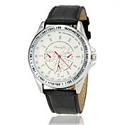 Hombre Reloj de Pulsera Reloj Casual Piel Banda Encanto / Reloj de Vestir Negro / Blanco / Marrón
