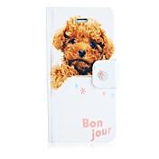 Para Funda iPhone 5 Carcasa Funda Soporte de Coche con Soporte Flip Diseños Cuerpo Entero Funda Perro Dura Cuero Sintético paraiPhone
