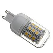 3000lm G9 LED-kornpærer T 30 LED perler SMD 5050 Varm hvit 110-130V 220-240V