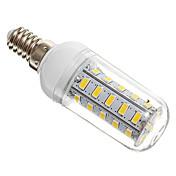 4W 360lm E14 Bombillas LED de Mazorca T 36 Cuentas LED SMD 5730 Blanco Cálido 220-240V