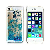 Etui Til iPhone 5 Apple Etui iPhone 5 Flommende væske Bakdeksel Glimtende Glitter Hard PC til iPhone SE/5s iPhone 5