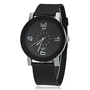 Mujer Cuarzo Reloj de Pulsera Reloj Casual Silicona Banda Encanto Moda Negro