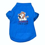 Perros Camiseta Azul Ropa para Perro Primavera/Otoño Letra y Número Cosplay / Boda