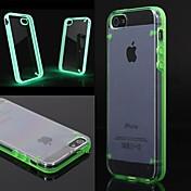 Funda Para Funda iPhone 5 Linterna LED Transparente Cubierta Trasera Color sólido Dura Policarbonato para iPhone SE/5s iPhone 5