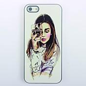 Para Funda iPhone 5 Carcasa Funda Diseños Cubierta Trasera Funda Chica Sexy Dura Policarbonato para iPhone SE/5s iPhone 5
