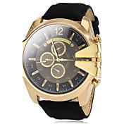 V6 Hombre Reloj Militar Reloj de Pulsera Cuarzo PU Banda Negro Marrón Verde Azul marino
