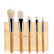 5pcs Profesional Pinceles de maquillaje Pincel de Fibra Artificial 2 * Cepillo de sombra de ojos / 1 * cepillo de polvo / 1 * cepillo de