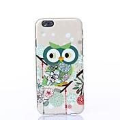 용 아이폰6케이스 아이폰6플러스 케이스 케이스 커버 패턴 뒷면 커버 케이스 부엉이 소프트 TPU 용 iPhone 6s Plus iPhone 6 Plus iPhone 6s 아이폰 6