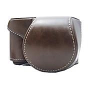 dengpin® cubierta protectora desmontable de cámara de cuero bolsa caso de la correa de hombro para Sony alpha A5000