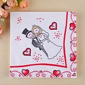 mote kvadrat tegneserie bruden& brudgummi servietter (sett med 20)