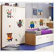 doudouwo® calcomanías pegatinas de pared, animales de invierno creativo animales pequeños adhesivos de pared de pvc