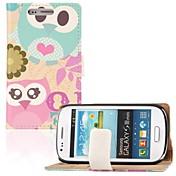 Para Funda Samsung Galaxy Cartera / Soporte de Coche / con Soporte / Flip / Diseños Funda Cuerpo Entero Funda Búho Cuero Sintético Samsung