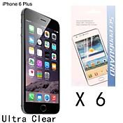 [6-pack] høy kvalitet anti-fingeravtrykk skjermbeskytter for iPhone 6s pluss / 6 pluss