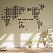 벽 스티커 벽 데칼, 세계지도의 PVC 벽 스티커