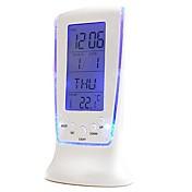 코웨이 고급 LED 전자 시계 화려한 시계 온도계 화면 알람 스누즈 게으른 야간