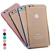 Para Funda iPhone 6 / Funda iPhone 6 Plus Transparente Funda Cubierta Trasera Funda Un Color Dura PolicarbonatoiPhone 6s Plus/6 Plus /