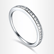 Dame Statement Ring Sølv Zirkonium Kubisk Zirkonium Sølvplett Fuskediamant Luksus Kjærlighed Hjerte Europeisk Fest Daglig Avslappet