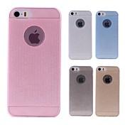 Funda Para Apple Funda iPhone 5 Traslúcido Funda Trasera Color sólido Suave Silicona para iPhone 8 Plus iPhone 8 iPhone 7 Plus iPhone 7
