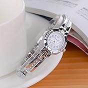 Mujer Reloj de Vestir Reloj de Moda Reloj de Pulsera Cuarzo La imitación de diamante Aleación Banda Encanto Destello Plata