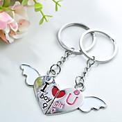personlig gravering kjærlighet engel metall par nøkkelring
